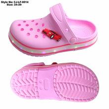 EVA Kids Children Pink Holey LED Clogs, Girls Lovely Light LED Clogs