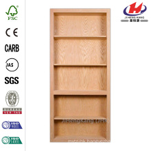 35 in. x 81 in. Unfinished Maple 4-Shelf Bookcase Interior Door Slab