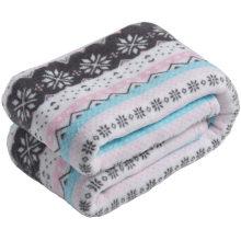 Hot selling shaggy blanket wholesale flannel blanket printed vintage style jaquard blanket