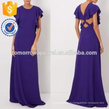 Новая мода фиолетовый без рукавов Рябить Вечерние платья креп платья Производство Оптовая продажа женской одежды (TA5275D)