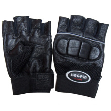 Men′s Genuine Leather Boxing Training Gloves (YKY5022)