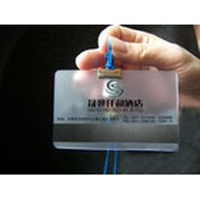 See Through Clear PVC/ Pet Magnetic Stripe Card