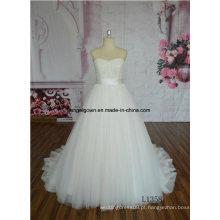 Vestido de noiva sem mangas vestido de casamento vestido de noiva OEM Service Factory