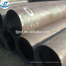 Tuyau d'acier soudé par ERW de carbone de MS / tube noir soudé par acier au carbone