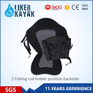 Kajak EVA Sitz mit Angelrutenhalter Rücktasche