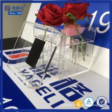 Custom Black Acrylic Gift Box for Flower with Printing Logo