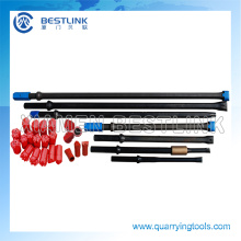 Quarry Rock Tapered Drill Rods Hex 22