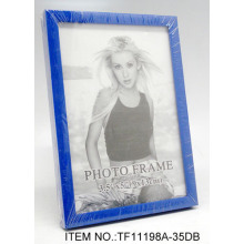 Round Plastic Glass Photo Frame