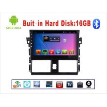 Système Android Car DVD GPS pour Toyota Vios Ecran tactile de 10,1 pouces avec Bluetooth / WiFi / TV / USB
