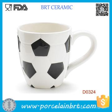 Großhandelsfußball-Form-keramische Kaffeetasse