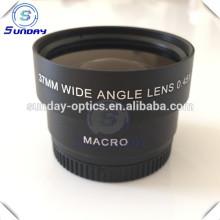 Lentes grande angular macro da câmera 0.45x da fábrica, 37mm, UV 46 e UV49
