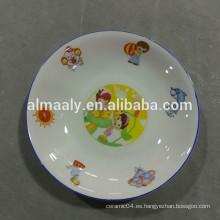 diseño encantador plato de fruta de cerámica