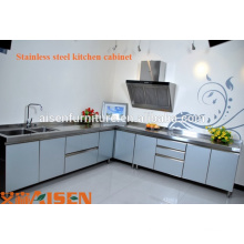 Cabinet de conception de cuisine commerciale en acier inoxydable de haute qualité, meubles, prix chauds d'équipement de cuisine à vendre, projet de cuisine