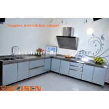 Gabinete de design de cozinha comercial de aço inoxidável de alta qualidade, móveis, preços de equipamentos de cozinha quente, projeto de cozinha