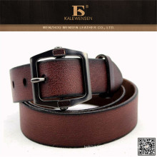 2015 Fábrica Designer clássico mais vendido Brown cintos de couro homens