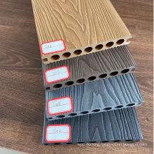 3d deep wood texture embossing wpc hollow deck/ deep embossing composite solid deck