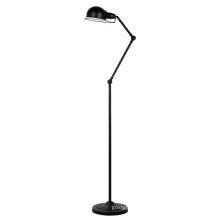 Lámpara moderna llena de piso de acero negro (ML6109-B)