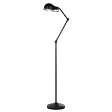 Modern Full Black Steel Floor Standing Lamp (ML6109-B)