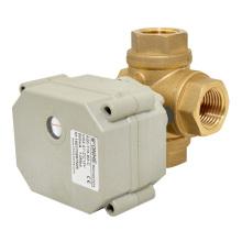 3 vías Tipo horizontal L-Bore / T-Bore Válvula de bola eléctrica motorizada de funcionamiento rápido