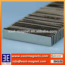 50*10*1.5mm long shape block neodymium magnet for sale/ningbo east magnet block magnet for sale