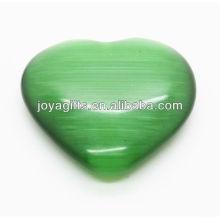 Cœur naturel d'oeil de chat 35mm
