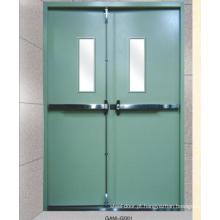 porta anti-ladrão à prova de fogo com visor de vidro para uso industrial