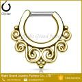 Rose Gold Tribal Indian Nose Ring Hoop Septum Clicker