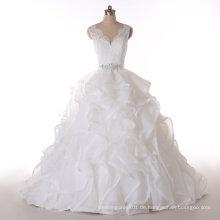 Aoliweiya Design V-Ausschnitt Prinzessin Real Bild Hochzeitskleid
