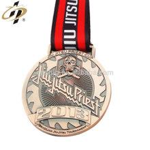 Antique bronze Brazilian Jiu Jitsu sports custom metal medal