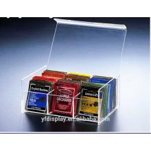 Boîte de sachets de thé acrylique sur mesure