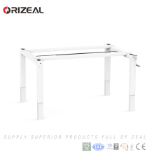 Two person sit stand workstation ergonomic manual height adjustable computer desk workstation