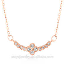 Factory wholesale fashion rose gold necklace, 18K gold silver necklace