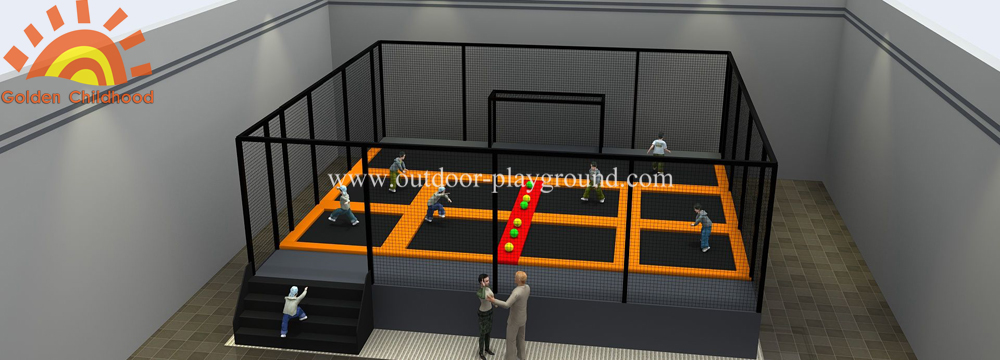 Football Trampoline Parks Area