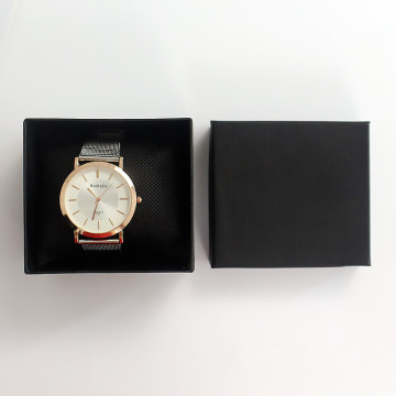 Vierkant zwarte voorraad Watch Holder Watch Packaging Box