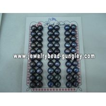 Half drilled pearl AAA grade 10mm, black