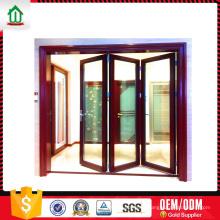 Portas dobráveis de acordeão de alumínio interiores Portas dobradiças de acordeão de alumínio interiores