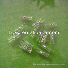 Transparente Kunststoffklammer