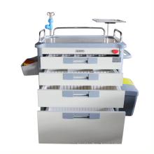 Nursing Patinet Hospital Furniture Medical Cart ABS Emergency Trolley