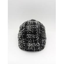 Tejido de color blanco y negro Cap Casua estilo occidental Casquillo IVY (YS002)