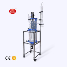 Lab vacuum fractional distillation glass reactor