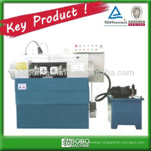Threading machine for rod screw making