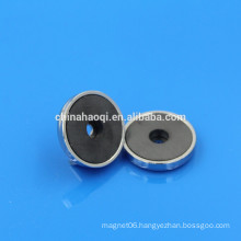 ferrite high quality round mounting magnets
