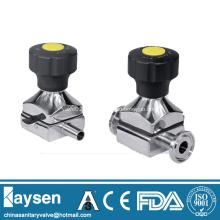 Válvulas Mini diafragma sanitárias com extremidades Tri-clamp