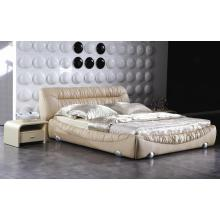 Muebles modernos del dormitorio, cama de cuero de tamaño King (9009)