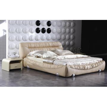 Современные спальни мебель, царь размер кровати (9009)