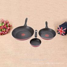 Cocina de inducción establece wok de aluminio fundido