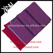 Handgemachte Quaste Polyester bedruckte Double Side Skinny Schal
