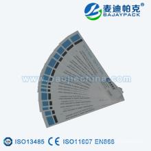 Cinta indicadora de esterilización de vapor probada por ISO13485 CERTIFICATE