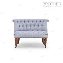 Tapicería muebles para el hogar tela tufted silla con respaldo alto para la sala de estar