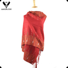 New Woven Jacquard Shawl Scarf with Fringes